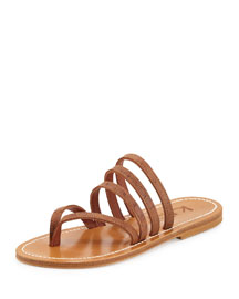 Sycomore Strappy Flat Thong Sandal, Catalina