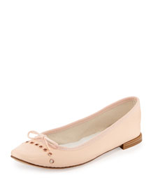 Devie Grommet Leather Ballerina Flat, Eve