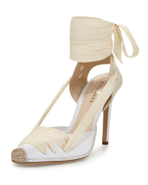Canvas d'Orsay Espadrille Pump, Natural White