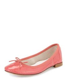 Cendrillon Leather Ballet Flat, Flamingo