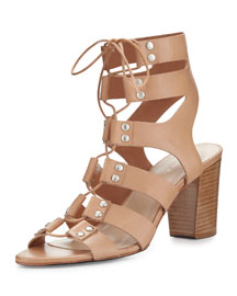 Hana Lace-Up Gladiator Sandal, Natural