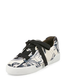 Morgan Leather Low-Top Sneaker, Off White