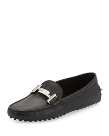 Leather Gommini Driving Flat, Black