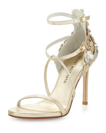 Wildthing Floral Leather Leather Sandal, Sun