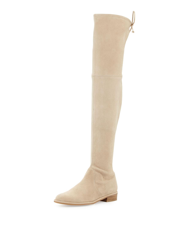 Stuart Weitzman Lowland Suede Over-the-Knee Boot, , Women's, Size: 10B/40EU Tan (Buff)
