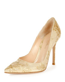 Lace Point-Toe 105mm Pump