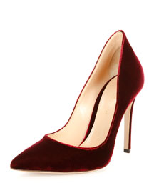 Velvet High-Collar 105mm Pump
