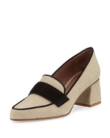 Margot Linen Loafer Pump