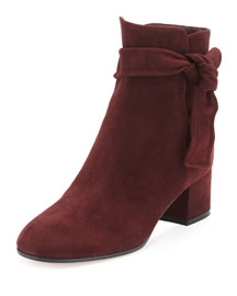 Suede Side-Tie 45mm Ankle Boot
