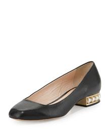 Casati Pearly Ballerina Flat, Black