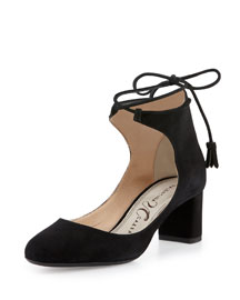 Chase Suede Ankle-Wrap Pump