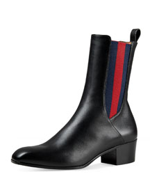Karen Web Ankle Boot, Black