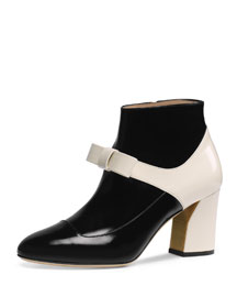 Nimue Mary Jane Ankle Boot, Black
