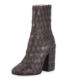 Metallic Circle Fabric 100mm Boot, Black