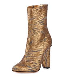 Metallic Fabric 100mm Boot, Gold