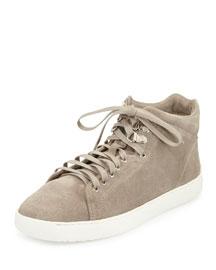 Kent Suede High-Top Sneaker, Warm Gray