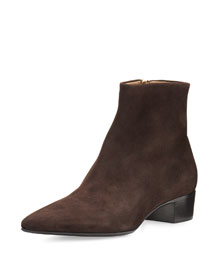 Ambra Kid Suede Ankle Boot
