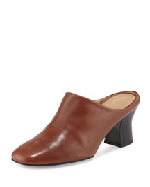 Adela Burnished Mule Pump