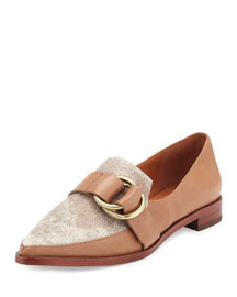 Agatha Calf Hair Loafer, Taupe/Melange