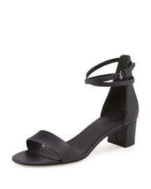 Rianne Leather Block-Heel Sandal