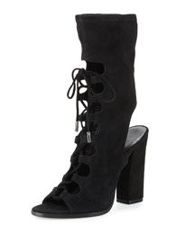 Linda Lace-Up Suede Boot Sandal