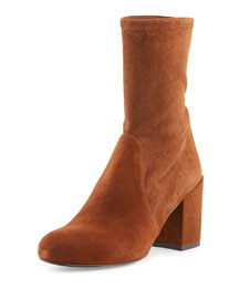 Calare Stretch-Suede Ankle Boot