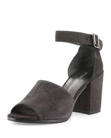 Nusohogal Suede Block-Heel Sandal