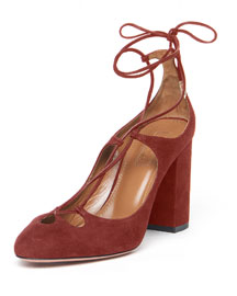 Dancer Suede Lace-Up 85mm Pump