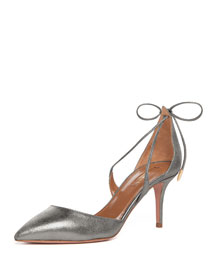 Matilde Metallic Suede Crisscross Pump