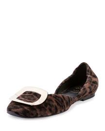 Ballerine Chips d'Orsay Flat, Leopard