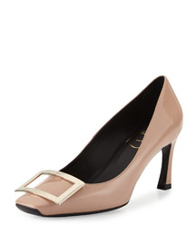 Trompette Patent Leather Pump, Nude