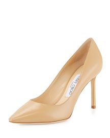 Romy Kid Leather 85mm Pump