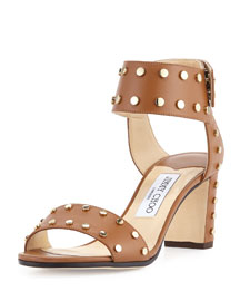 Veto Studded Leather 65mm Sandal