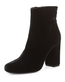 Velvet Babies 90mm Ankle Boot, Black (Noir)