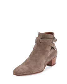 Blake Suede Ankle-Wrap Bootie