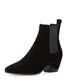 Suede Rock Chelsea Boot, Black