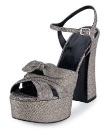 Candy Metallic Jacquard Platform Sandal