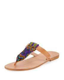 Lydia Woven Thong Sandal