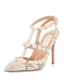 Camustars Rockstud 100mm Pump, Chalk/Crystal