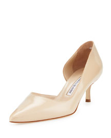 Collina Half-d'Orsay Leather Pump