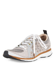 Adizero Adios Knit Sneaker, Silver/Gray/Brown