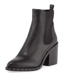 Renee Studded Block-Heel Chelsea Boot, Black