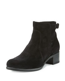 Viola Suede Ankle Boot, Black