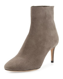 Duke Suede 65mm Ankle Boot, Taupe Gray