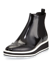 Polished Leather Microsole Boot