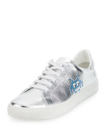 Space Invader� Low-Top Sneaker, Silver