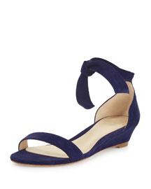 Clarita Suede Demi-Wedge Sandal