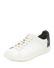 Varin Leather Low-Top Sneaker, Plaster/Black