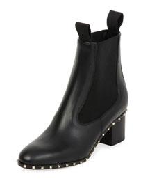 Soul Stud Leather Chelsea Boot, Black (Nero)
