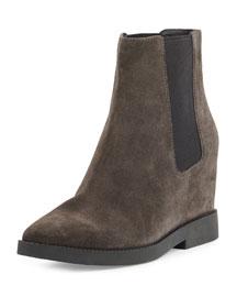 Gong Hidden-Wedge Chelsea Boot, Bistro